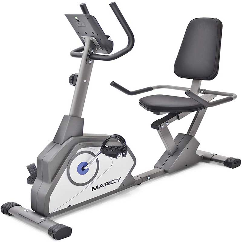 1.Marcy-Magnetic-Recumbent-Exercise-Bike